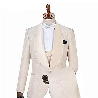 One Button Groom Tuxedos Shawl Suits