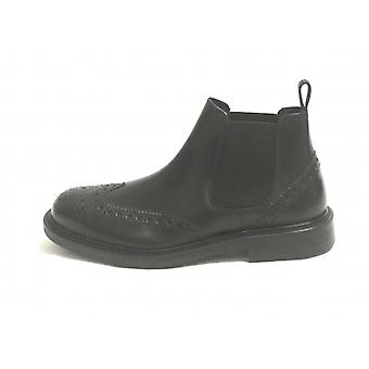 Beatles Ankle Boot Man Ancient Cuoieria Mod. Batisphere Black Skin U19ac08
