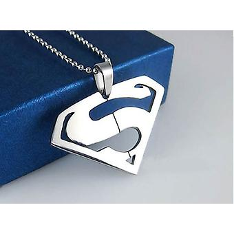 Men Superman Logo Super Hero Charm Pendentif Collier