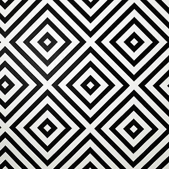 Geo Diamond Mono Wallpaper