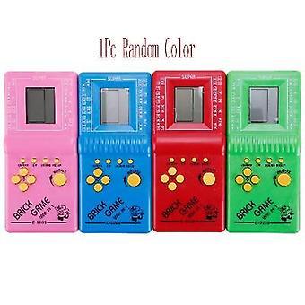 Retro Classic Childhood Tetris Handheld Game Players Lcd