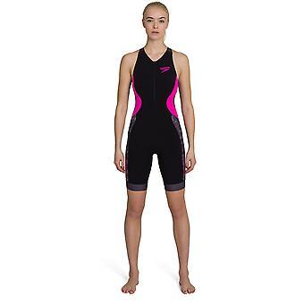 سبيدو فاستسكين زينون الترياتلون المرأة السباحة بلا أكمام ثلاثي البدلة السوداء