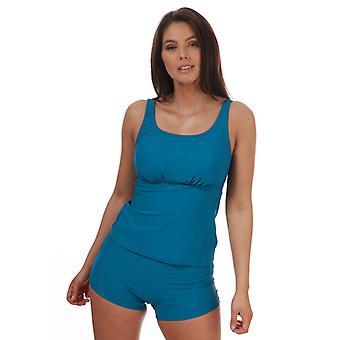 Women's Speedo Scoopback Boyleg Tankini in Blue