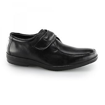 Fleet & Foster Jim Mens Leather Touch Fästskor Svart