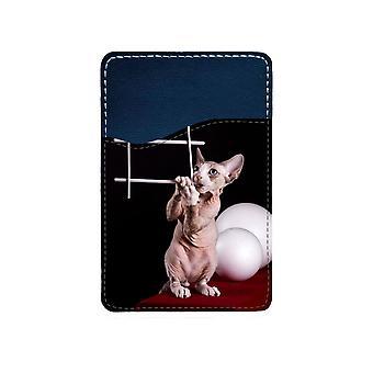 Katt Devon Rex Självhäftande Korthållare För Mobiltelefon
