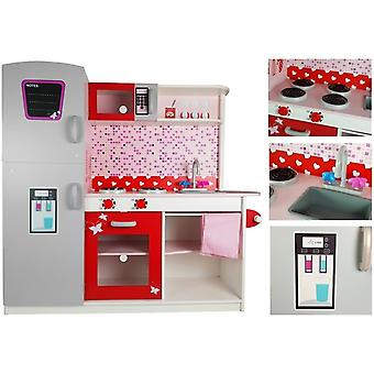 Cuisine pour enfants 112 x 31 x 196 cm - avec appareils de cuisine intégrés