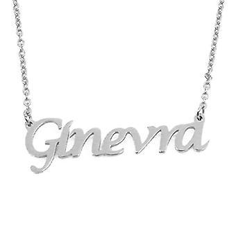 KL Kigu Geneva - Kvinnors halsband med personligt namn, fashionabla smycken, gåva till flickvän, mamma, syster