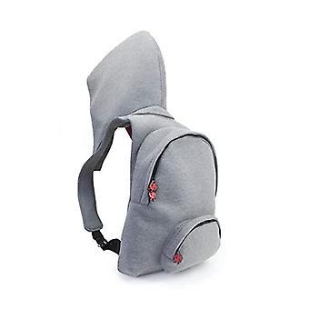 MorikukkoMorikukko Hooded Backpack Grey RedUnisex - AdultZainiGrigio (Grey Red)33x8x40 Centimeters (W x H x L)