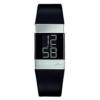 s.Oliver SO-1125-LD ساعة يد الكوارتز الرقمية، النساء، أسود