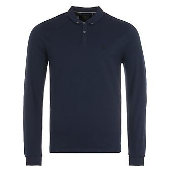 Luke 1977 Billiam Long Sleeve Polo Shirt - Navy