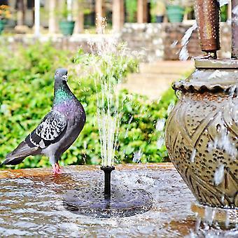 2.5W solar fountain pump for bird bath with 800mah battery backup dt4399