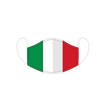 Włoska flaga wielokrotnego noszenia twarzy - Duża