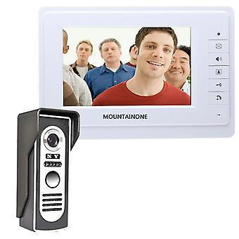 Visual Video Intercom System Doorbell Monitor Camera Kit para seguridad en el hogar