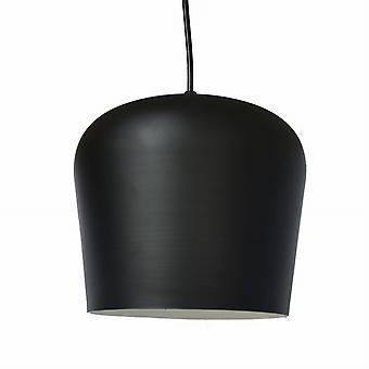 Hanglamp mat zwart – Ronde kap 15 cm – Moderne Plafondlamp