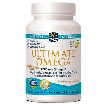 Nordic Naturals Ultimate Omega, 1000 mg, Fish Gelatin 60 ct