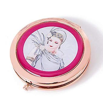 Charleston Rose Gold Compact Mirror - Lady Grey Dress