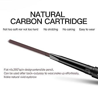 Magical Halo Double Headed With Brush Rotary Automatic Waterproof Eyebrow Pen
