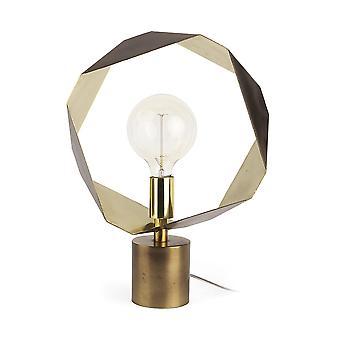 Gylden geometrisk halobord eller skrivebordslampe