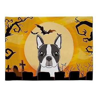 Caroline's Treasures BB1761PLMT Halloween Boston Terrier Stoff Tischset, Multicolor