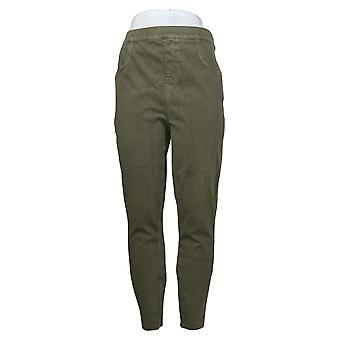 Spanx Plus Leggings Jean-ish Ankle Length Tall Green A368566