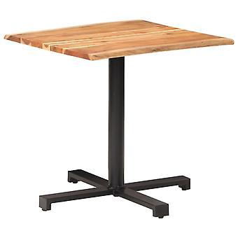 """שולחן ביסטרו vidaXL עם קצוות עץ 80x80x75 ס""""מ Akazie עץ מלא"""