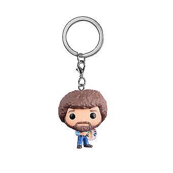 بوب روث اللوحة البوب شخصيات سلسلة مفاتيح حلقة قلادة بوب روس جوي استوديو حلقة مفتاح سلسلة المفاتيح