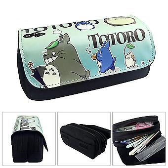 TOTORO Children's double-layer pencil case with large capacity(Color-2)