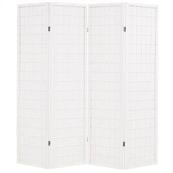 Fine Asianliving Japanese Room Divider 4 Panneaux W180xH180cm Écran de confidentialité Shoji Rice-paper Blanc - Tana