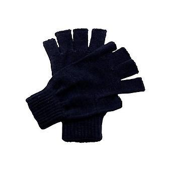 قفازات مربعة - قفازات بلا أصابع - أسود