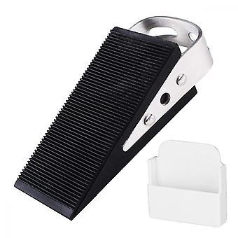 Deurstopper, dubbele zijden rubber heavy duty deur stop wig voor kantoor en thuis (zwart)