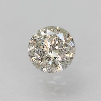 معتمد 0.36 قيراط I SI3 جولة رائعة الماس فضفاضة الطبيعية 4.49mm EX CUT
