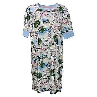 رمز الراحة من قبل الحضن دودز المرأة شاطئ طباعة Sleepshirt الأزرق 682887