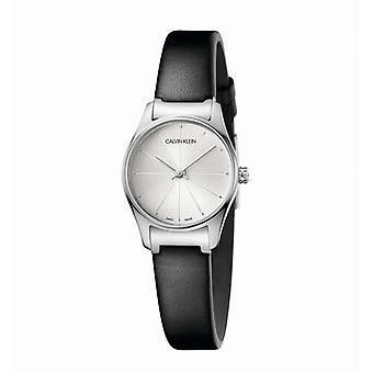 Montre femme Calvin Klein Montres CLASSIC TOO PO LY SST BLK LEA SIL DIAL - K4D231C6 Bracelet Cuir