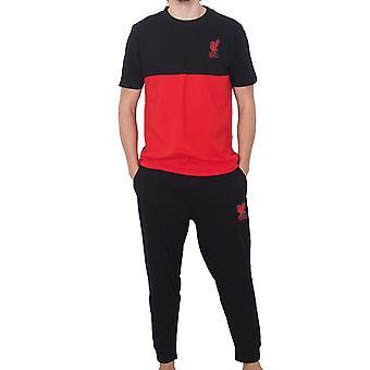Liverpool FC Mens Pijamale Long Premium Set OFICIAL Fotbal Cadou