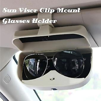 1 pièce de General Motors Sun Visor Lunettes de soleil Case Frame Spectacle Frame Storage Box-gris