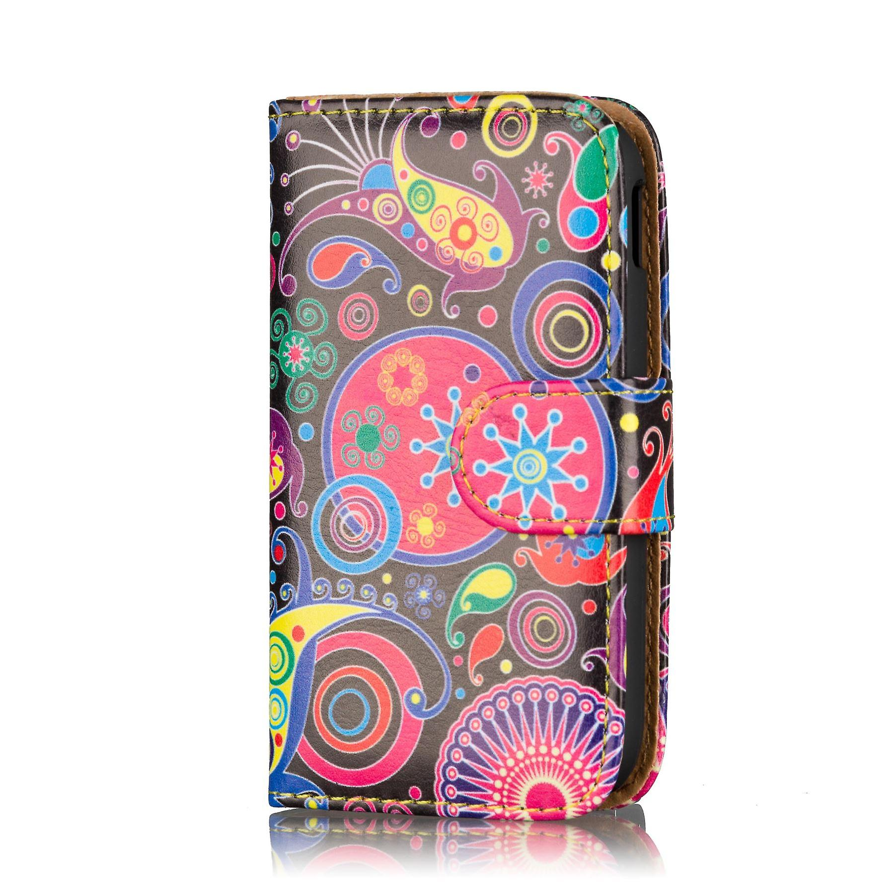Design Book Leather case cover for Samsung Galaxy S2 i9100 - Jellyfish