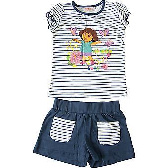 Girls Dora The Explorer Summer T-shirt & Shorts Set