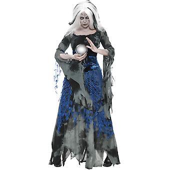 De goddelozen cartomancien kostuum met jurk en overdress Gr. M
