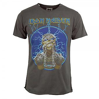 Amplified Mens Iron Maiden Mummy T Shirt Charcoal