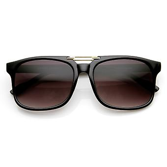 Classic Traditional  Horned Rim Flat Top Square Horn Rimmed Sunglasses