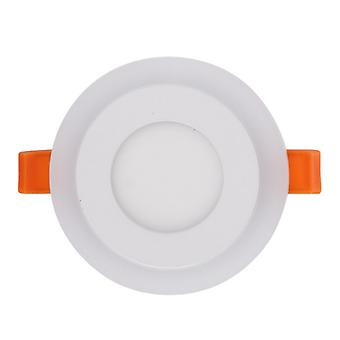 I LumoS Dual Colour LED 6 Watt Warm White Round Recessed Ceiling DownLight with Pure White