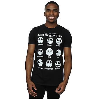 Disney Herren Nightmare Before Christmas Jack T-Shirt hat viele Gesichter