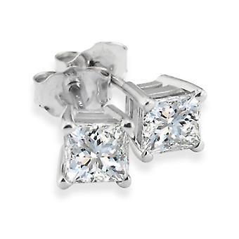 1 1 / 4ct diamant goujons 14K or blanc
