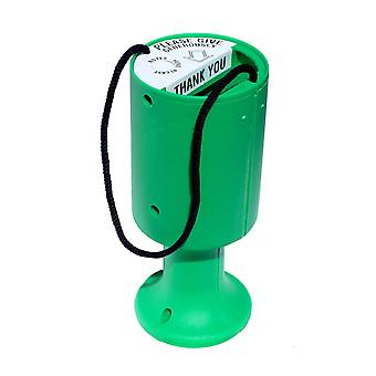 Round Charity Money Collection Box - Green