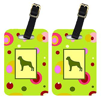 Carolines Treasures  CK1091BT Pair of 2 Rottweiler Luggage Tags