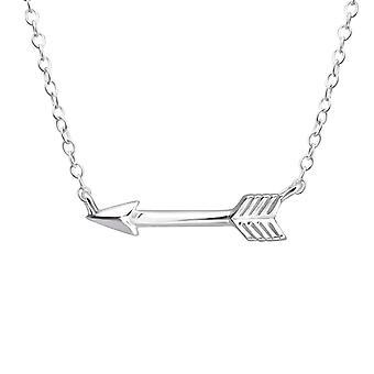 Arrow - 925 Sterling Silver Plain Necklaces - W18639X