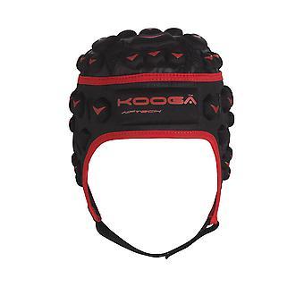 Kooga Dunedin Airtech Loop Rugby Headguard Junior [sort/rød]