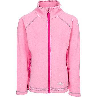 Trespass Girls Bunker Full Zip Airtrap Warm Knitted Fleece Jacket Top