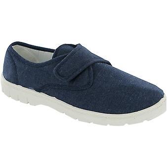 Mirak メンズ ハーヴェイ キャンバス カジュアル繊維 Plimsoll スタイル靴ネイビー