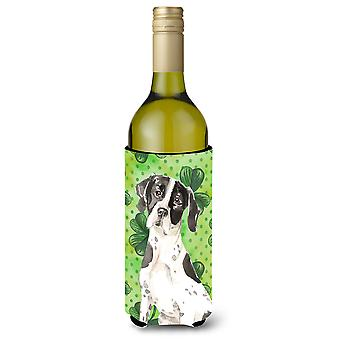 Shamrocks English Pointer Wine Bottle Beverge Insulator Hugger